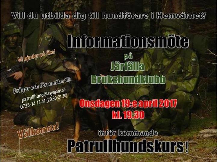 Informationsmöte Patrullhund