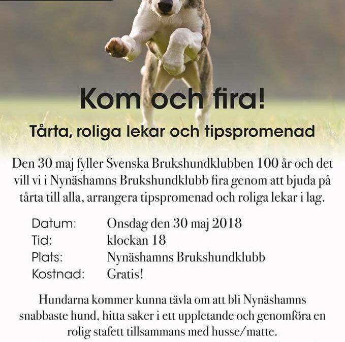 Fira SBK 100 år den 30 maj!